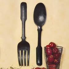Large Spoon and Fork Decor