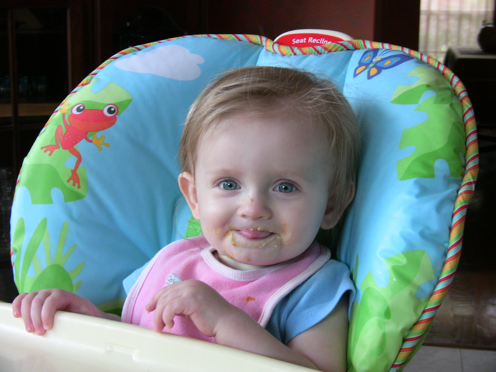 Riley Eating Baby Food