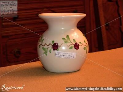 Emerson Creek Pottery Cranberry Tart Burner