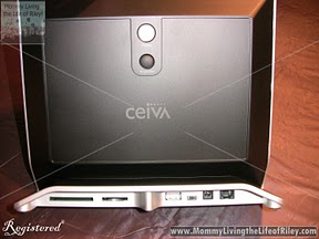 Back of CEIVA Pro 80 Digital Photo Frame