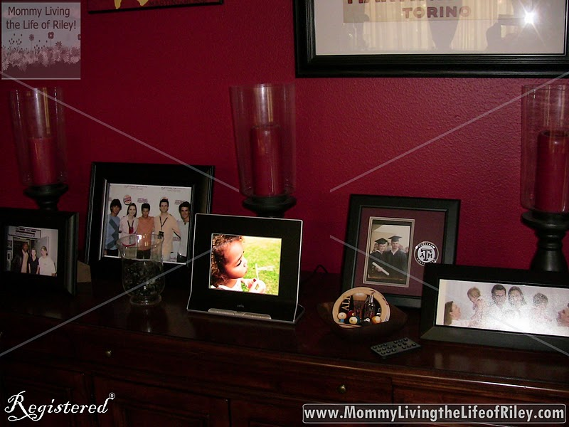 CEIVA Pro 80 Digital Photo Frame on Display in My House