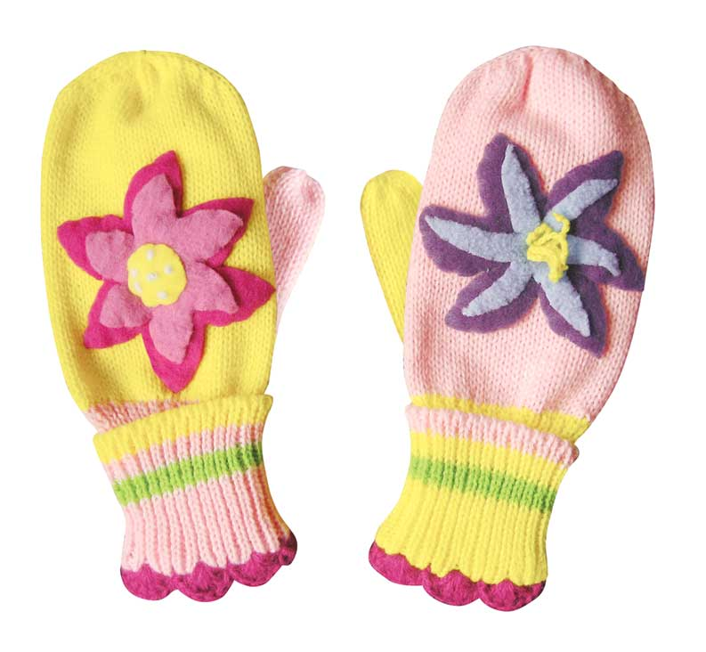 Lotus Knit Mittens