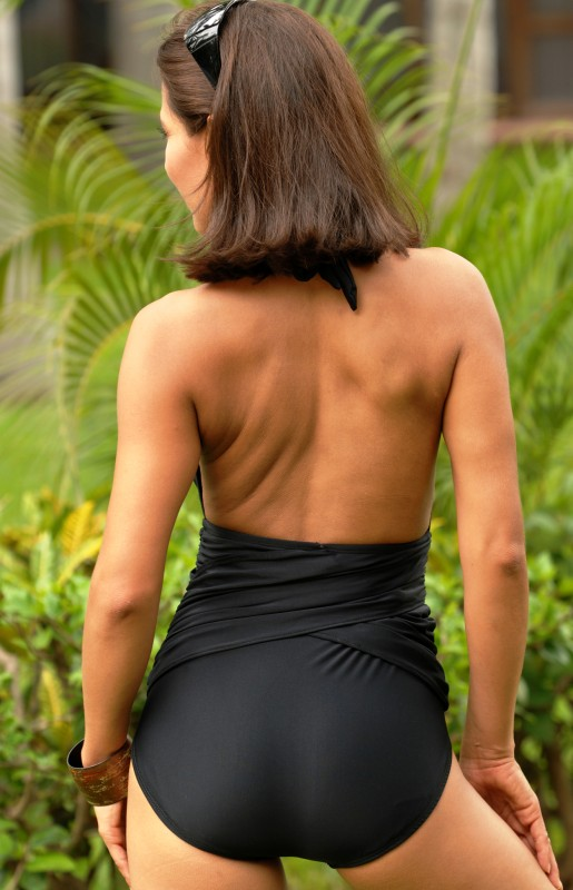 Ujena Slimming Black One-Piece Bathing Suit from Oh Cheri!