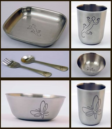 Untangled Living Anywhere Collection Stainless Steel Dishes