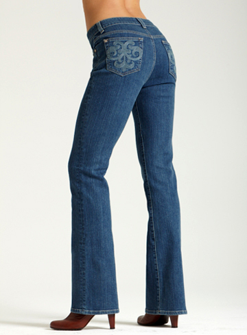 Miraclebody Samantha Boot Cut Jeans with Aquarius Pocket