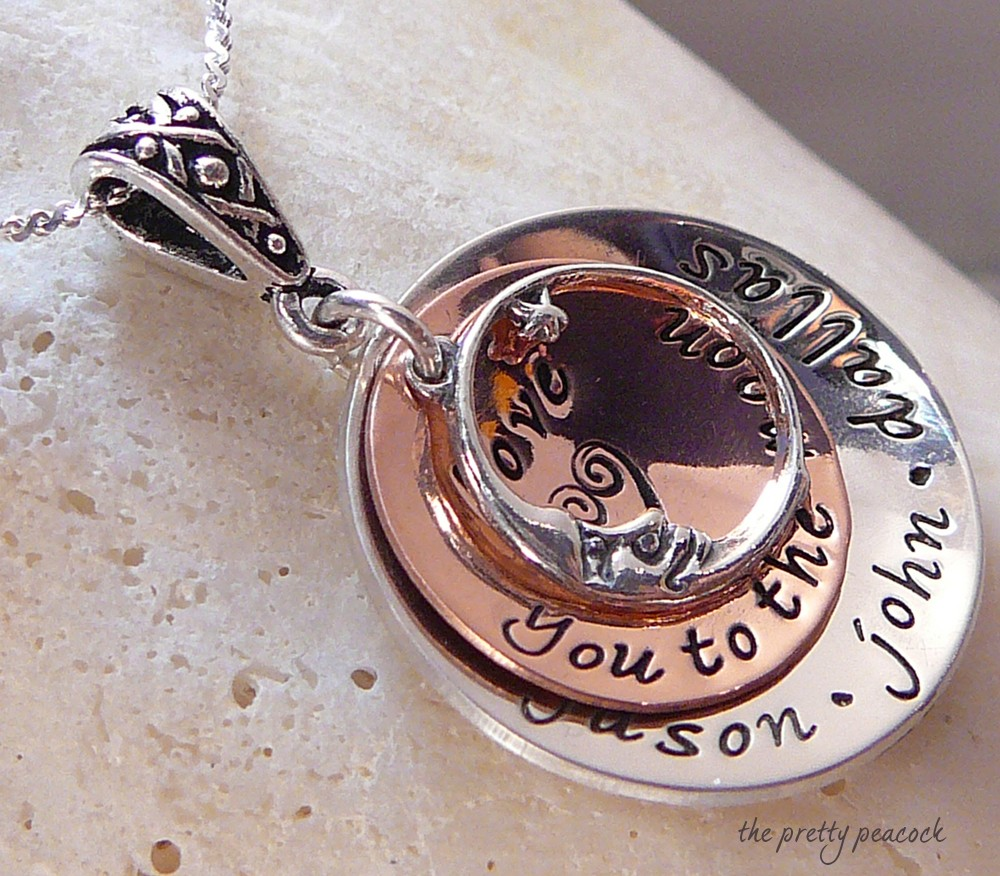 The Pretty Peacock Love You to the Moon Pendant