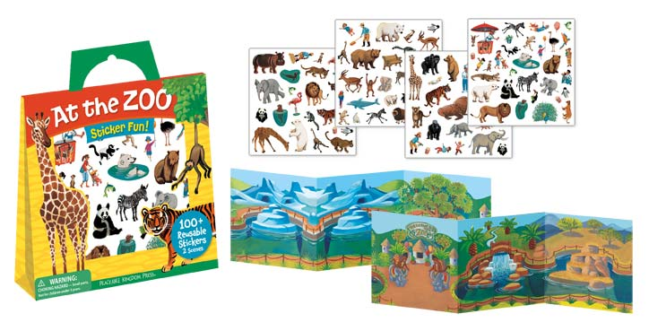 Peaceable Kingdom At the Zoo Sticker Pack