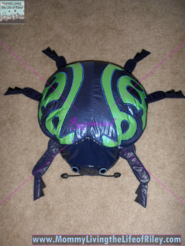 T-Jack Beetle from Convertible Designs used as a Travel Pillow