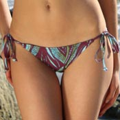 Seascape String Bikini Bottoms