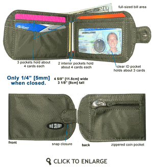 TaxiCat Bi-Fold Wallet from Big Skinny Corp.