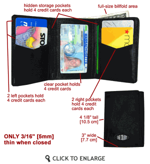Big Skinny Wallet of YOUR CHOICE