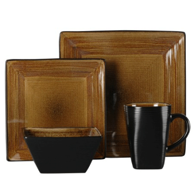 Adriatic Brown Square Dinnerware from Oneida