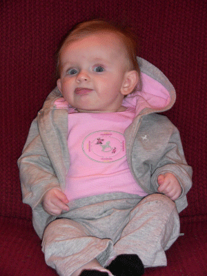 Riley at 20 Weeks Being Silly