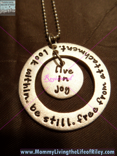 Joseph Allen Designs Large Forever Circle with Disc in Satin Necklace