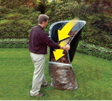 Leaf Loader Lawn Cleanup Tool