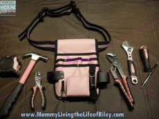 Little Pink Tools Little Pink Tool Pouch and Belt