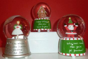 Sandra Magsamen Holiday Snow Globes