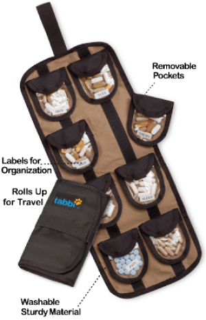 Tabbi Vitamin and Supplement Travel Organizer