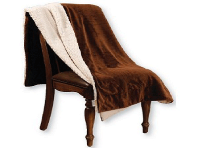 Cozy Coverz Lambswool Micro Fur Reversible Throw Blanket