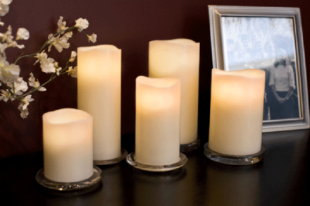 Enjoy Lighting Ivory Flameless LED Candles