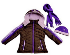 Rothschild Kids Sporty Snowflake Winter Jacket