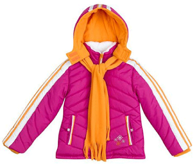 Rothschild Kids Sporty Snowflake Winter Jacket in Raspberry