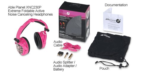 AblePlanet EXTREME Foldable Active Noise Canceling Headphones