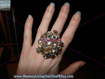 Tori Spelling Clustered Stone Statement Ring from HSN
