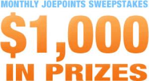JoeShopping.com Monthly Sweepstakes