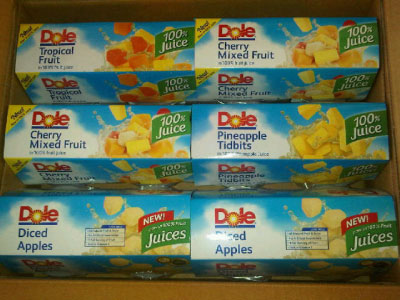Dole All Natural Fruit Cups in 100% Juice