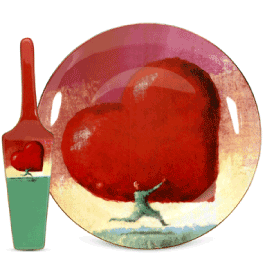 the p.s. collection All Heart Cake Plate with Server