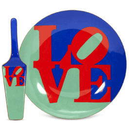 "the p.s. collection Robert Indiana ""Love"" Cake Plate with Server"