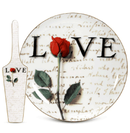 the p.s. collection Love Letters Cake Plate with Server