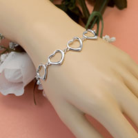 Sticky Jewelry Sterling Tiffany Style Heart Bracelet