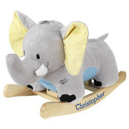 Personalized Elephant Rocking Animal from Hayneedle