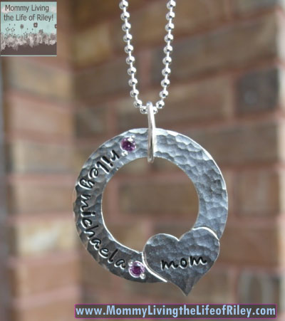 Joseph Allen Designs Forever in My Heart Hammered Necklace