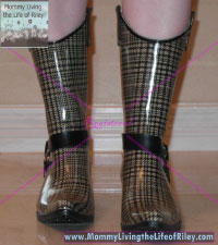 Harness Brown/Plaid Cowboy Rain Boots from Nomad Footwear