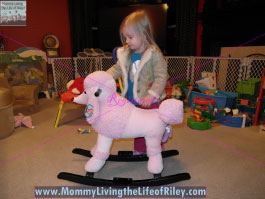 Baby Pink Plush Poodle Rocking Animal from Hayneedle