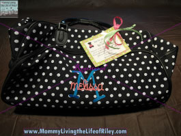 Miss Lucy's Monograms Large Travel Bag with Wheels