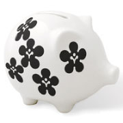 notNeutral Black/White Piggy Bank from My Urban Child