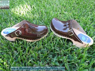 Cape Clogs Brown Patent Leather Clogs