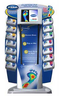 Dr. Scholl's Custom Fit Orthotic Inserts Kiosk