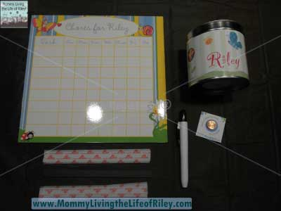 Frecklebox Personalized Chore Chart and Piggy Bank