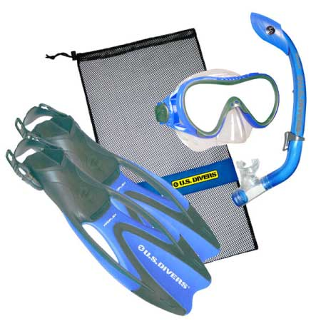 iSnorkel US Divers Coral Kids Recreational Snorkel Set