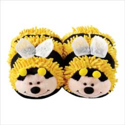 Aroma Home Fuzzy Friends Bee Slippers