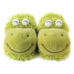 Aroma Home Fuzzy Friends Frog Slippers
