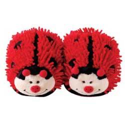 Aroma Home Fuzzy Friends Ladybug Slippers