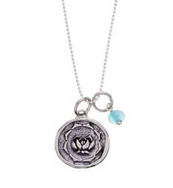 Baroni Lotus Charm Ball Chain Necklace
