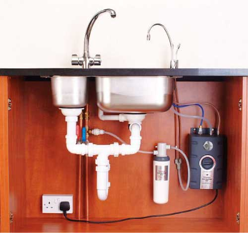hot Insinkerator dispenser instant sst water