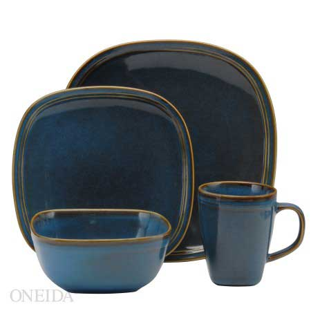 Oneida Asheville Denim Dinnerware Set
